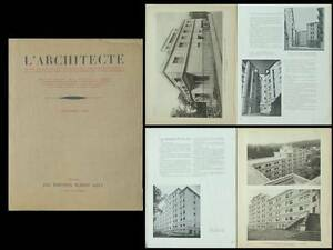 Ambitieux L'architecte 1932 Cite Universitaire Nancy, Bourgon, Hotel Reichenbach, Moreux