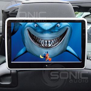 universal car hd headrest dvd player screen usb sd touch screen rear seat games ebay. Black Bedroom Furniture Sets. Home Design Ideas