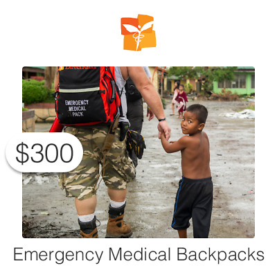 $300 Charitable Donation For: Emergency Medical Backpacks