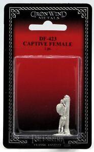 Ral-Partha-DF-423-Captive-Female-1-Miniature-Prisoner-with-Post-Victim-Slave