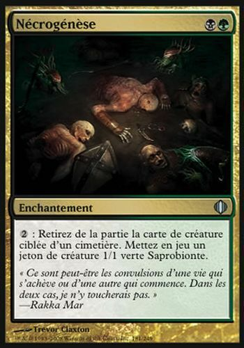 ▼▲▼4x Nécrogénèse Necrogenesis ALA ECLATS #181 FRENCH Magic