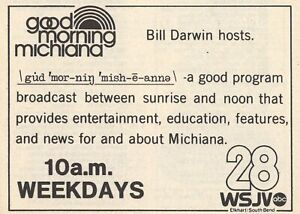 1981 Wsjv Tv Ad Bill Darwin Hosts Good Morning Michiana South Bend Indiana Ebay