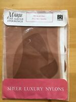 Vintage 60s Sheer Luxury Stockings By Marie 15 Den Seamfree Burlesque Retro
