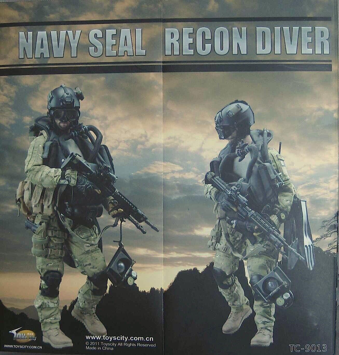 cómodo Juguetes City City City 1 6 Navy SEAL Recon Diver TC-9013   Jean Reno Headsulpt  Descuento del 70% barato