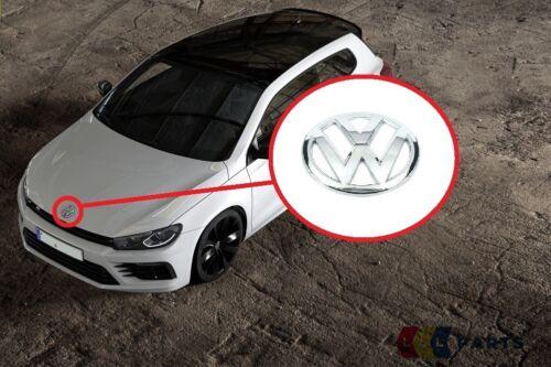 NEW Genuine VW SCIROCCO 15-17 Avant Arrière Chrome Bonnet Badge Emblems Paire Set
