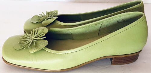 Etienne-Aigner-034-Gardener-Green-Leather-Shoes-Size-7-EUC