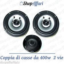 KIT COPPIA CASSE AUDIO 400W 2 VIE 16 CM  COPPIA NUOVO ALTOPARLANTI PER AUTO
