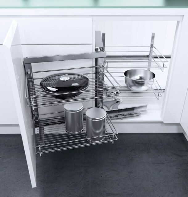 KITCHEN CORNER BASE UNIT - PULL OUT MAGIC CORNER MECHANISM - SOFT CLOSE