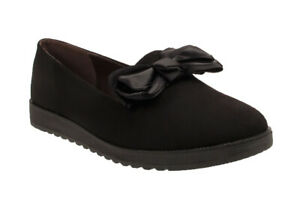 Womens-Ladies-Flat-Girl-Creeper-Sole-School-Work-Dolly-Loafers-Bow-Shoes-Size