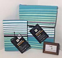 Pottery Barn Burton Venture Stripe Twin Duvet W/ Standard Sham -