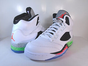 Image is loading AIR-JORDAN-5-RETRO-White-Infrared-23-Poison-