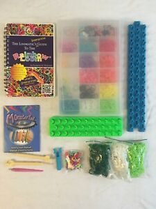 HUGE-Rainbow-Loom-Kit-Rubber-Bands-Refill-Packs-Organizer-BOOK-charms-MORE