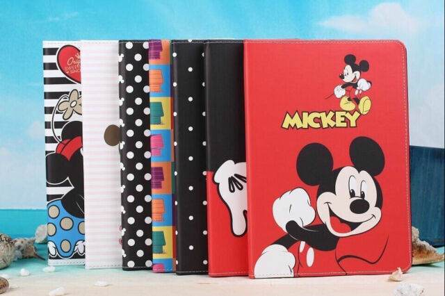 For Apple iPad 2 3 4 5 Air Mini Cartoon Disney Minnie Stand Leather Flip PU Case