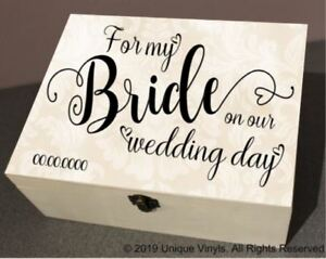 Details About Personalised Wedding Box Stickers For My Bride For My Groom Mother Of Bride