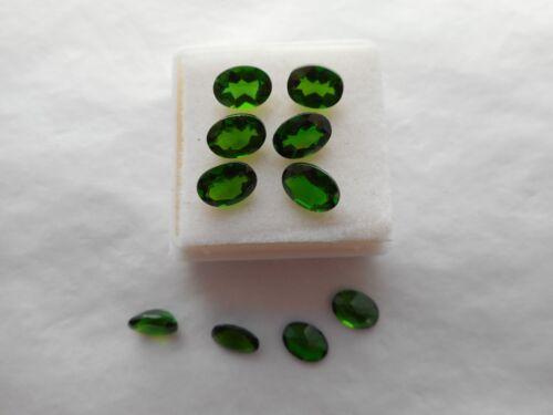 Cromo Diopsido Oval piedras preciosas 7x5mm