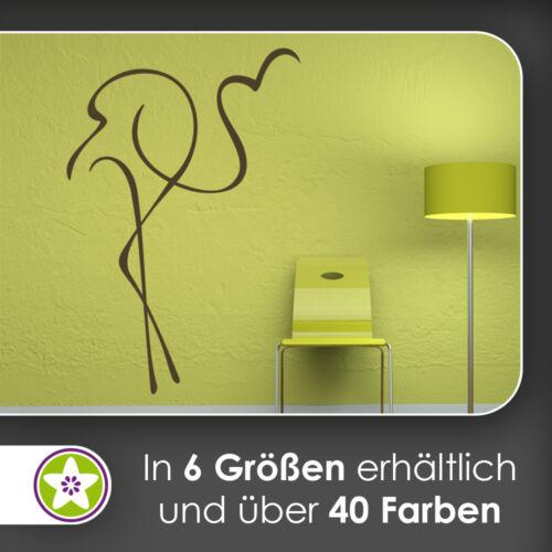 Flamingo Linien Wandtattoo KIWISTAR Aufkleber Sticker waf0392