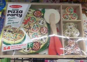 Details About Melissa Doug Wooden Pizza Party Kit