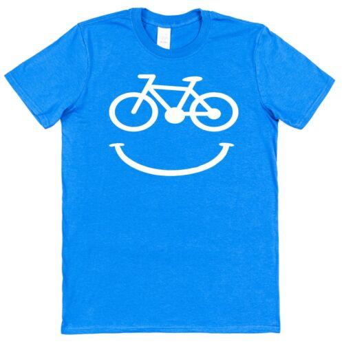 Bicycle Smile Men/'s Cotton T-Shirt Cyclist Bike Rider BMX Mountain