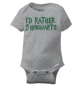 70cfb3653 Rather Be At Hogwarts Harry Gerber Onesie   Potter Hermione Muggle ...