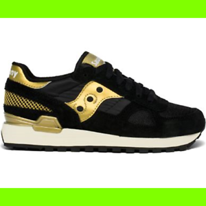 SAUCONY DONNA SHADOW ORIGINAL NERO ORO 35½ | eBay
