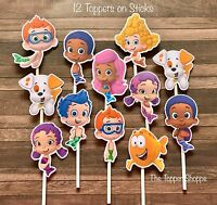 12- Bubble Guppies Cupcake Toppers / Cake Toppers / Birthday Party Decorations