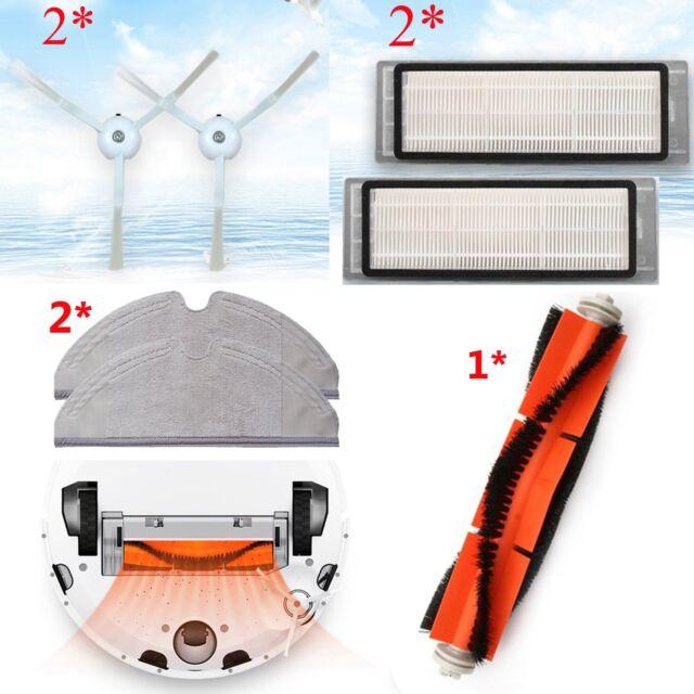 HEPA Filter+Seitenbürste Staubsauger für XiaoMi Mi Roboter 1//2Gen Vacuum Cleaner