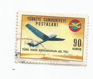 TURKEY 1965 The 40th Anniversary of the Turkish Civil Aviation League  USED - Kendal, United Kingdom - TURKEY 1965 The 40th Anniversary of the Turkish Civil Aviation League  USED - Kendal, United Kingdom