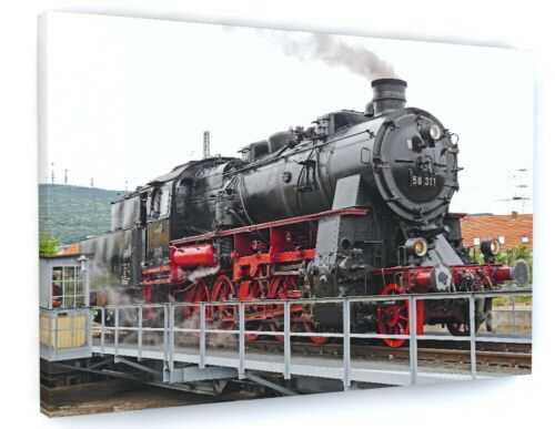 OLD STEAM TRAIN RAILWAY CANVAS PICTURE PRINT WALL ART 6047