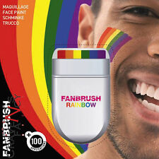 Rainbow Fan Brush Face Body Paint Gay Lesbian Pride Flag Makeup Wash Off New