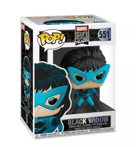 Funko Pop Marvel 80th IN VINILE BLACK widow PRIMA APPARIZIONE Figura #551