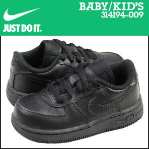 online store a4adc 5cf53 Details about NWB Retro TODDLER Nike AF1 Low Boys/Girls Black/Black  #314194-009