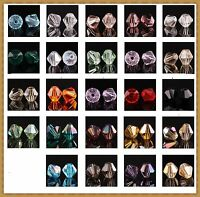 100 Stück 4mm Glasslperlen Kristall Glasschliffperlen BICONE Rhomben Perlen Lots
