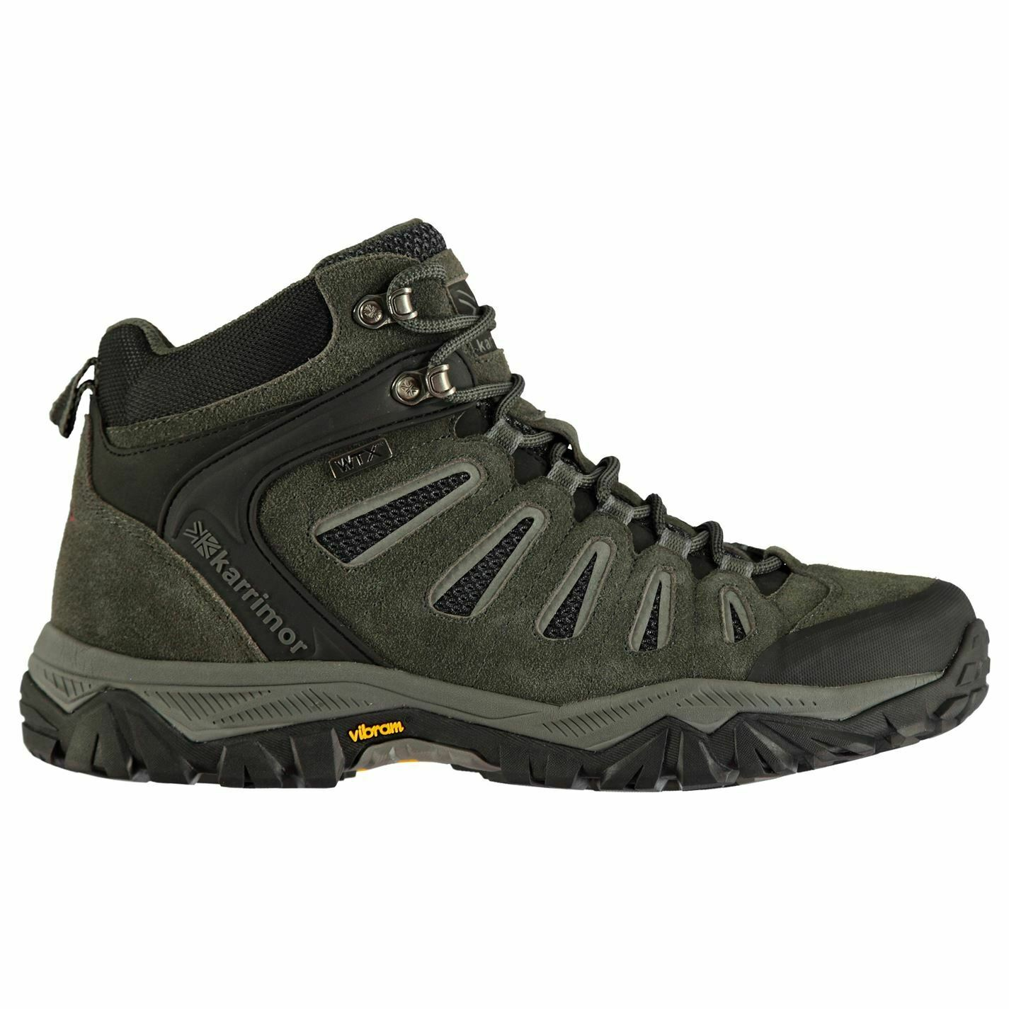 Karrimor uomo Wildcat Mid Walre stivali Lace Up Breakable Padded Ankle Collar