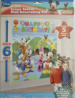 DISNEY MICKEY~ MINNIE MOUSE SCENE SETTER BIRTHDAY WALL BANNER Decor PARTY SUPPLY