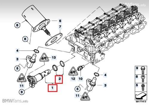 New BMW E82 E90 325i E60 530i E65 730i N52 Vanos Solenoid Valve 11367585425