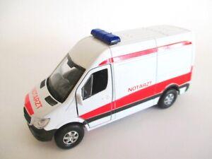 Mercedes-Sprinter-emergencias-maqueta-de-coche-metal-12-cm-DIECAST-Welly-Model