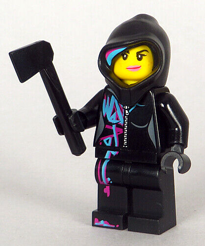Wyldstyle with Hoodie Up Minifigure w// Axe LEGO 70801 Lego Movie