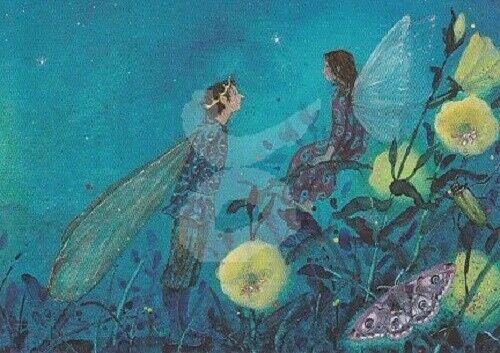 * Daniela Drescher la petite elfe et le prince 10x15cm Carte Postale
