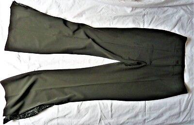 Damenhose Spitze Lederoptik Damen XS-XL Lederlook-Hose mit Spitzeneinsatz