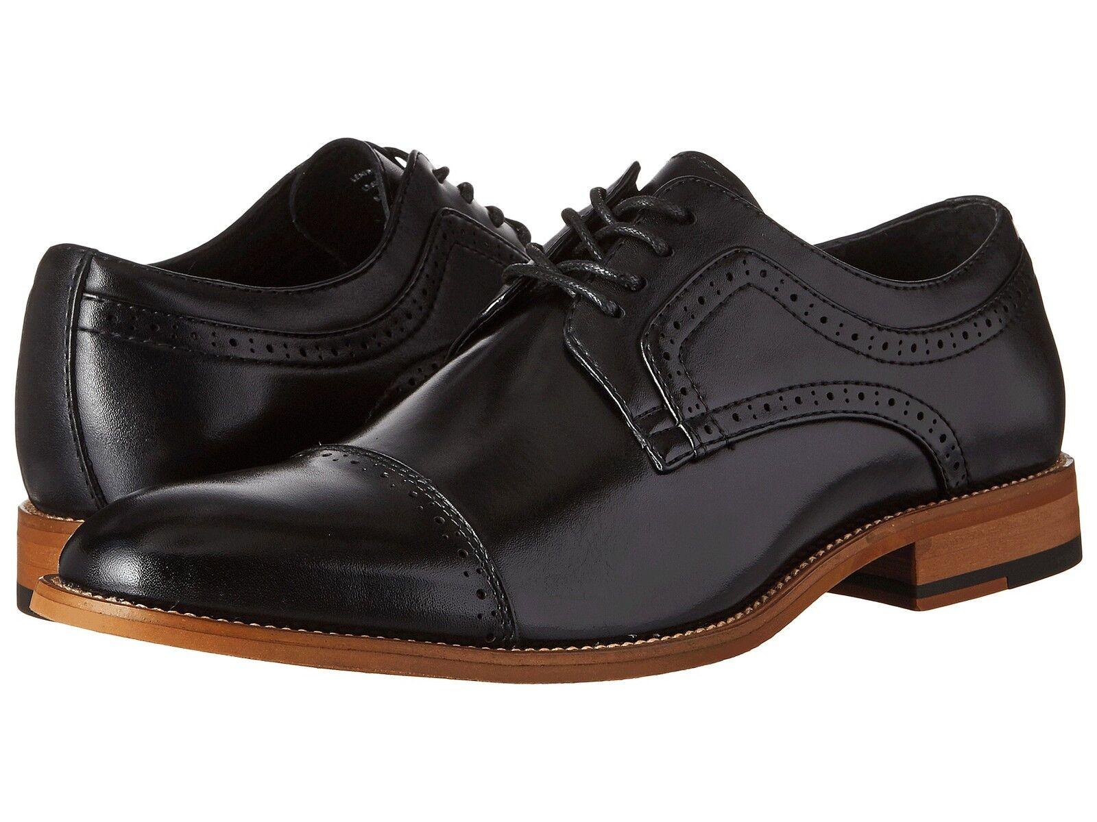 Stacy Adams Men's DICKINSON Cap toe toe toe oxford Black Leather shoes 25066-001 4becc5