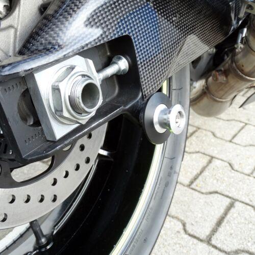 Racing Ständeraufnahmen Bobbins M8x1.25 silber  Motorrad Montageständer Aufnahme