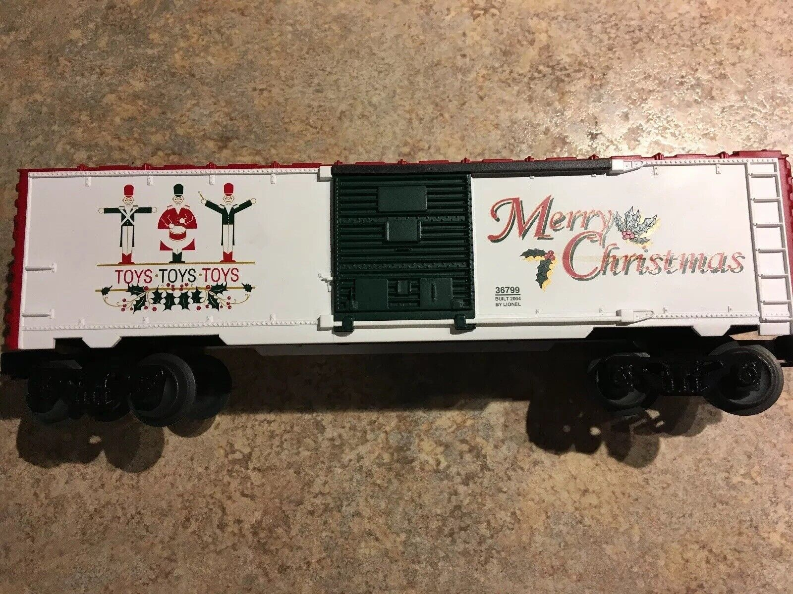 Lionel 6-36799 Toys Toys Toys Merry Christmas Musical Boxcar -12 Songs