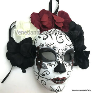Mens Full Face Masquerade Skull Mask School Graduation Bachelor Homecoming Prom