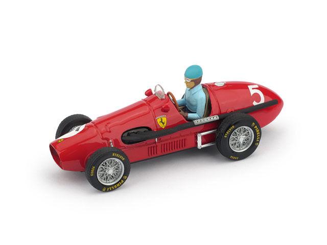 Ferrari 500F2 A. Ascari 1953 Winner British GP with Driver 1 43 Model BRUMM