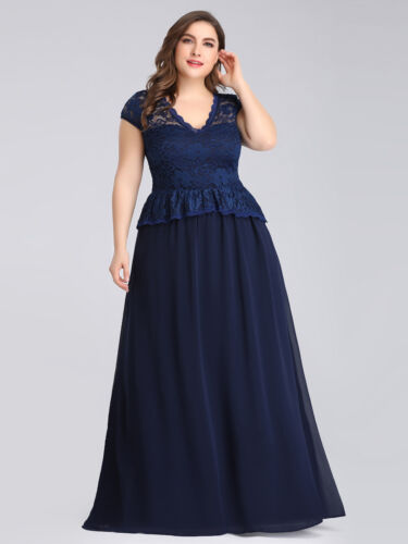 Ever-pretty Long Plus Size Lace Mother Of Bride Dresses Formal Evening Prom 7672