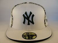 MLB New York Yankees New Era 59FIFTY Fitted Hat Cap White Green
