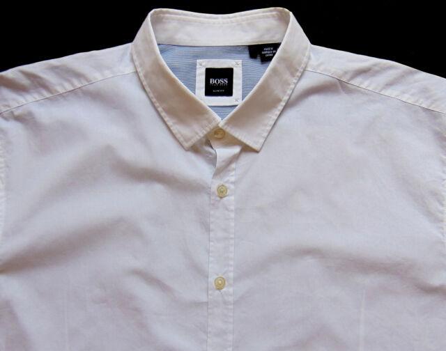 1d758ecda Men's Hugo Boss White S/s Short Sleeve Shirt 2xl XXL for sale online ...