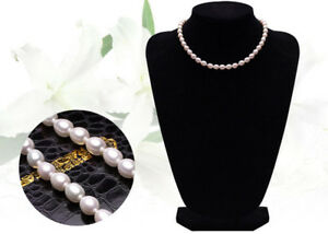 """6-7MM White Real Natural Cultured Pearl Necklace 18"""" JN1659"""