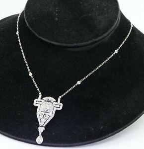 Tiffany-amp-Co-Platinum-Art-Deco-6-10CT-VS1-F-formal-diamond-pendant-necklace