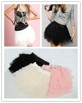 Sexy Tutu Tulle 5 Layers Dance Party Lovely Girl's Mini Short Skirt Ladies Dress